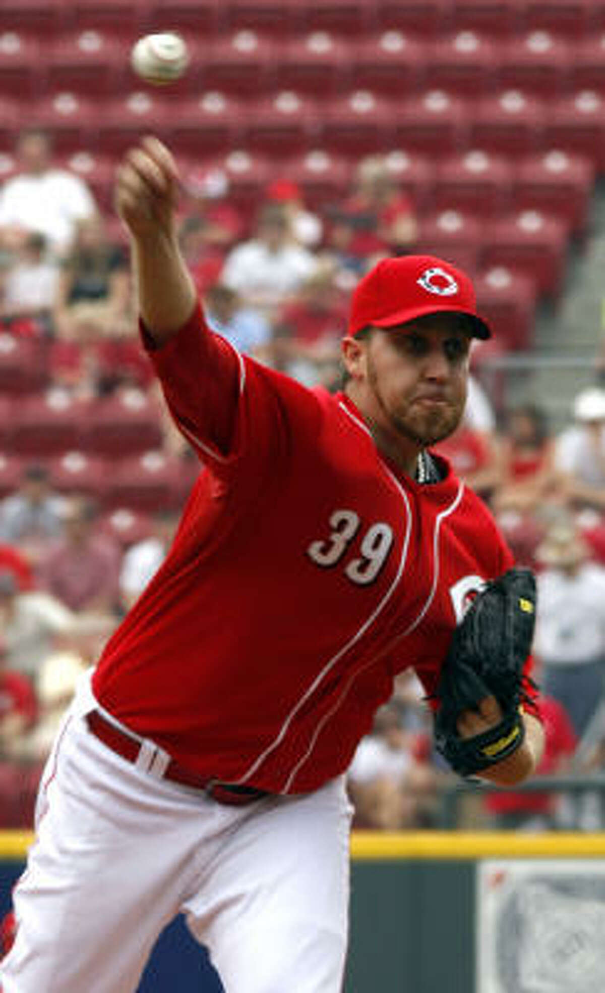 Aaron Harang pitched the first 4 2/3 innings and then came back after the two-hour rain delay.