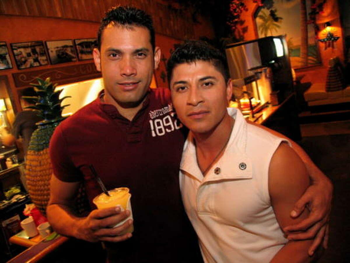 Lesner Martinez, left, and Homer Armeno