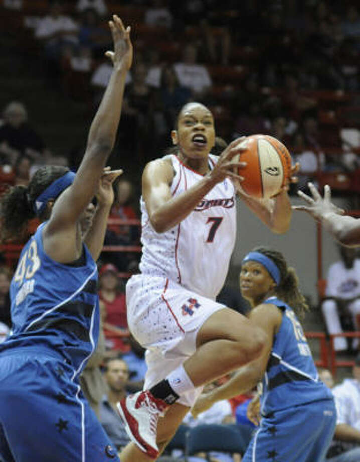 Tina Thompson The forward signed with the Los Angeles Sparks. While she had played 11 years in Houston and keeps a home in the area, Thompson grew up in Los Angeles and played college basketball at USC. Photo: Steve Ueckert, Houston Chronicle