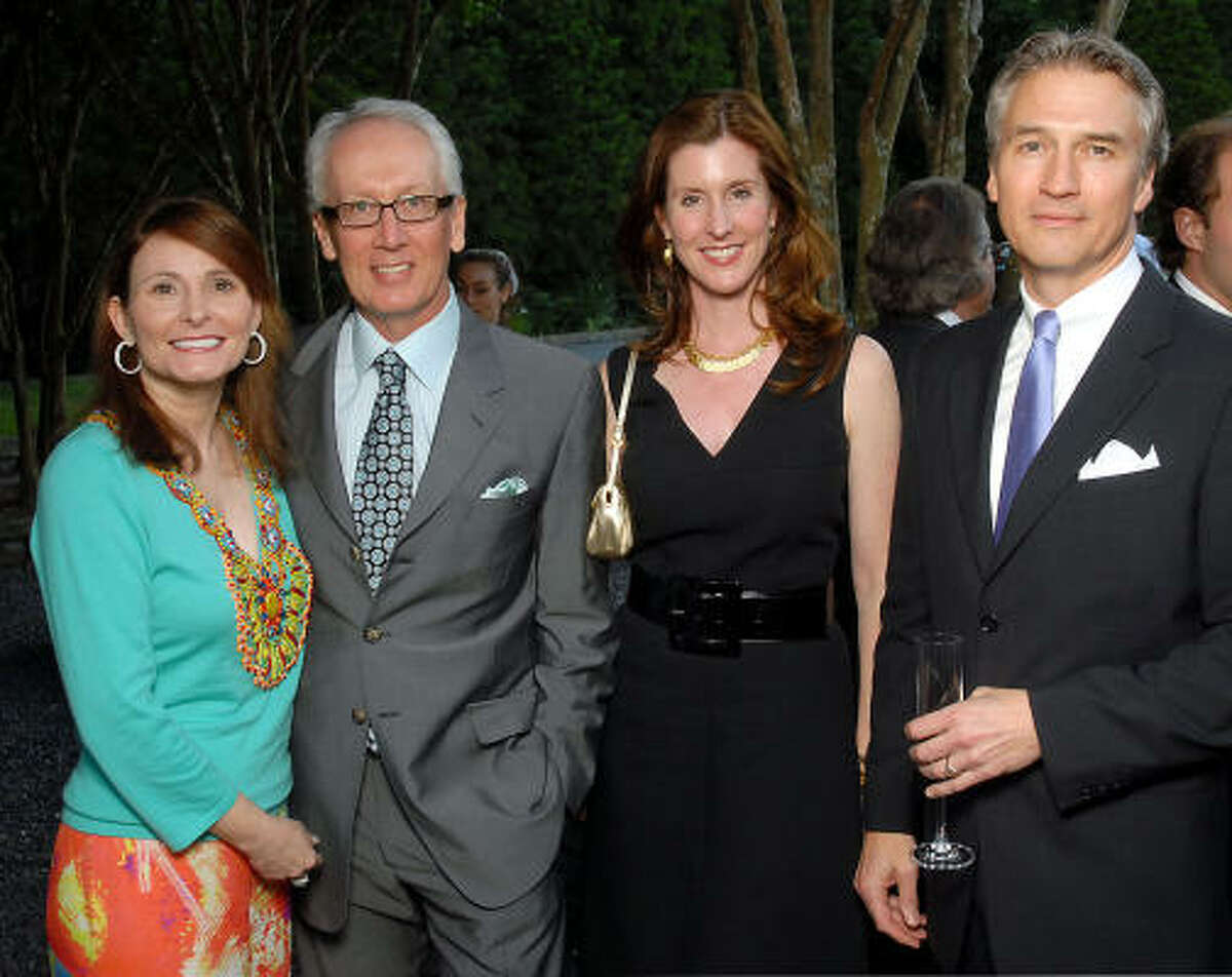 From left: Ann and Don Short with Phoebe Tudor and Sanford Criner