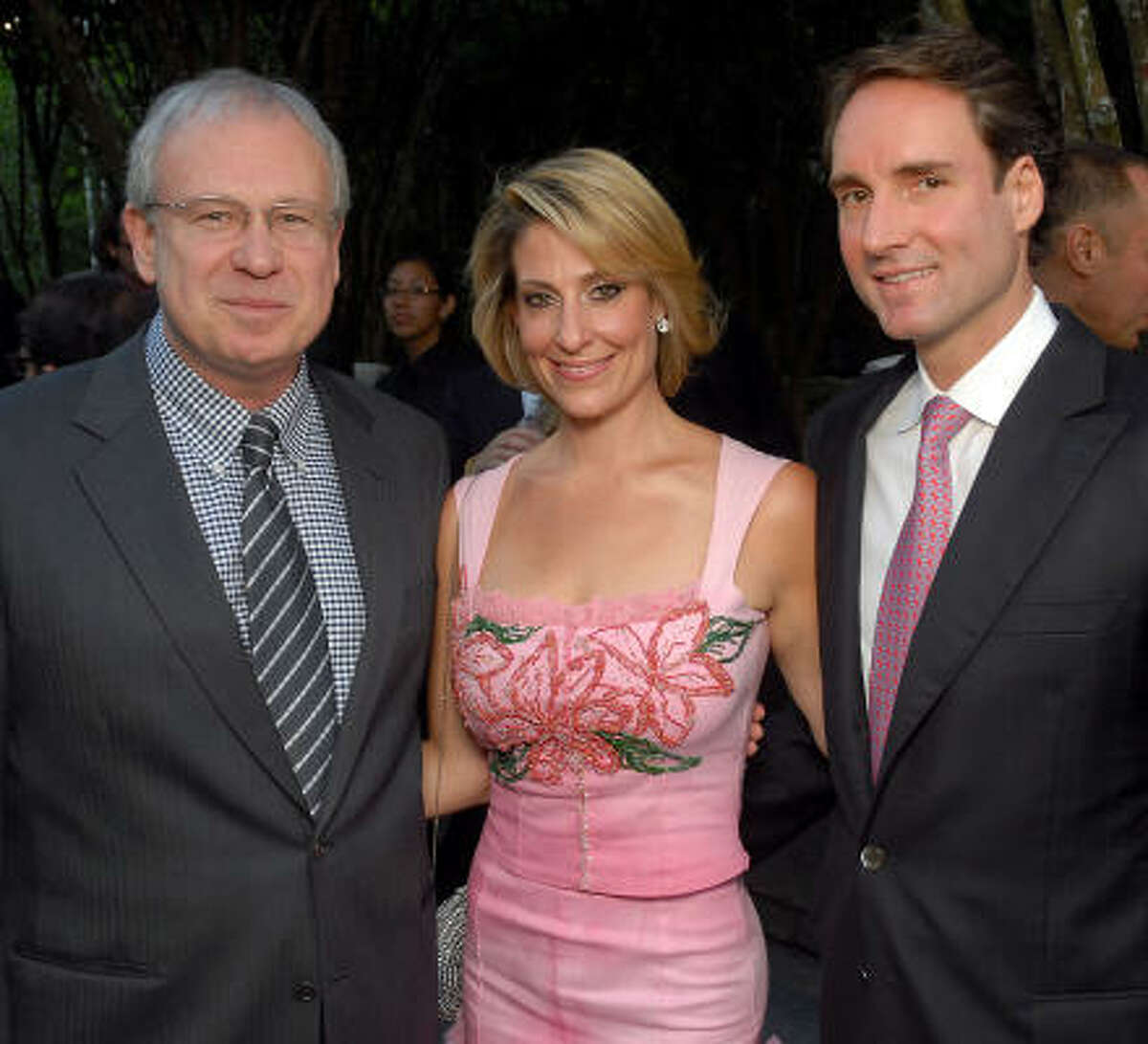 From left: John Thrash with Jessica and Philipp Meyer