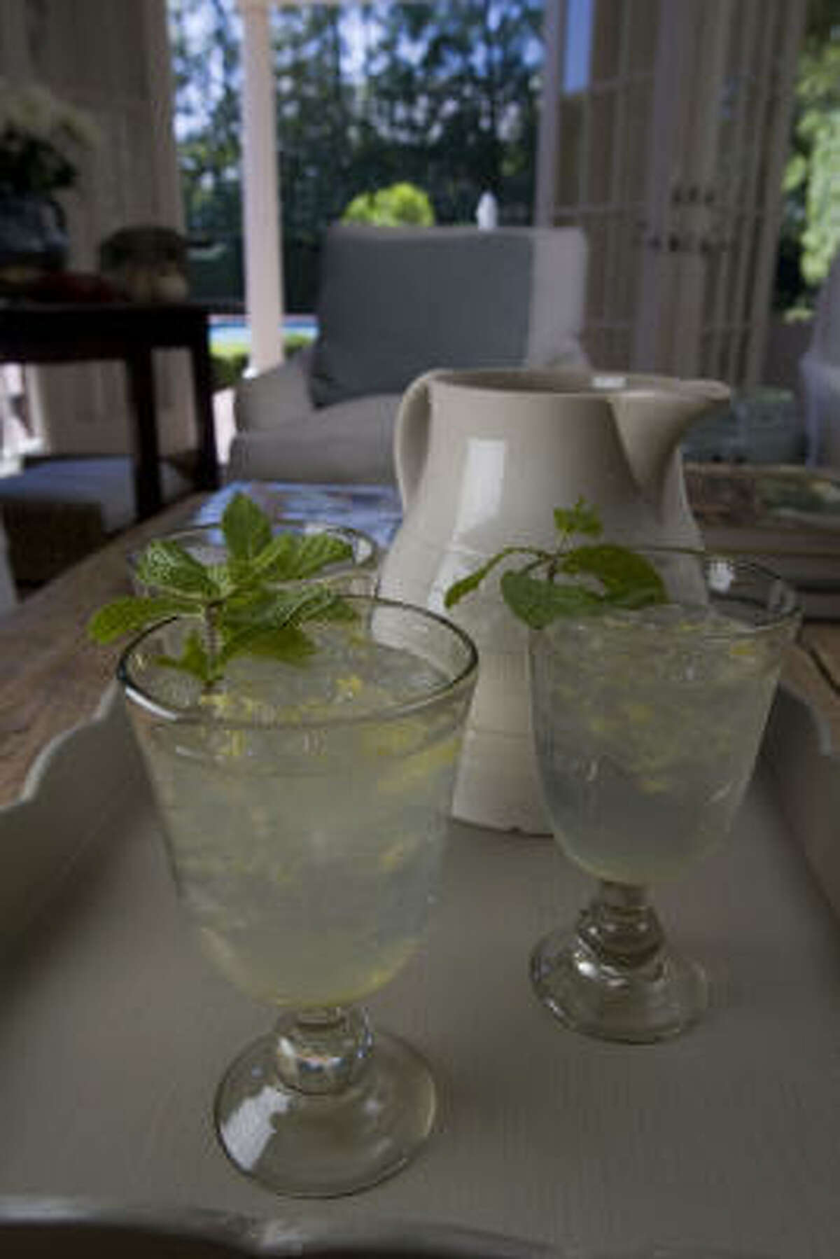 She also and fixes Iced Lemon and Ginger Summer Cordials.