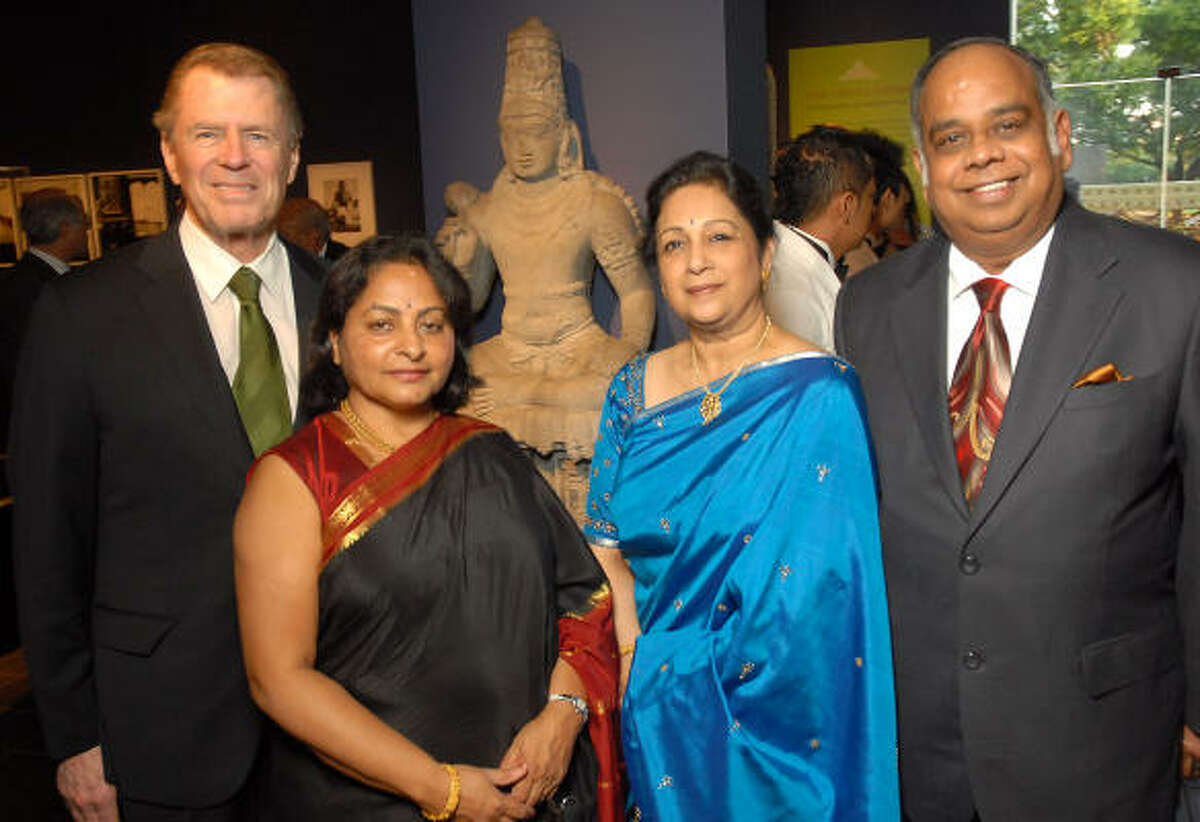 From left: Peter Marzio, Prabha Bala, Shantha Raghuthaman and A.P. Raghuthaman