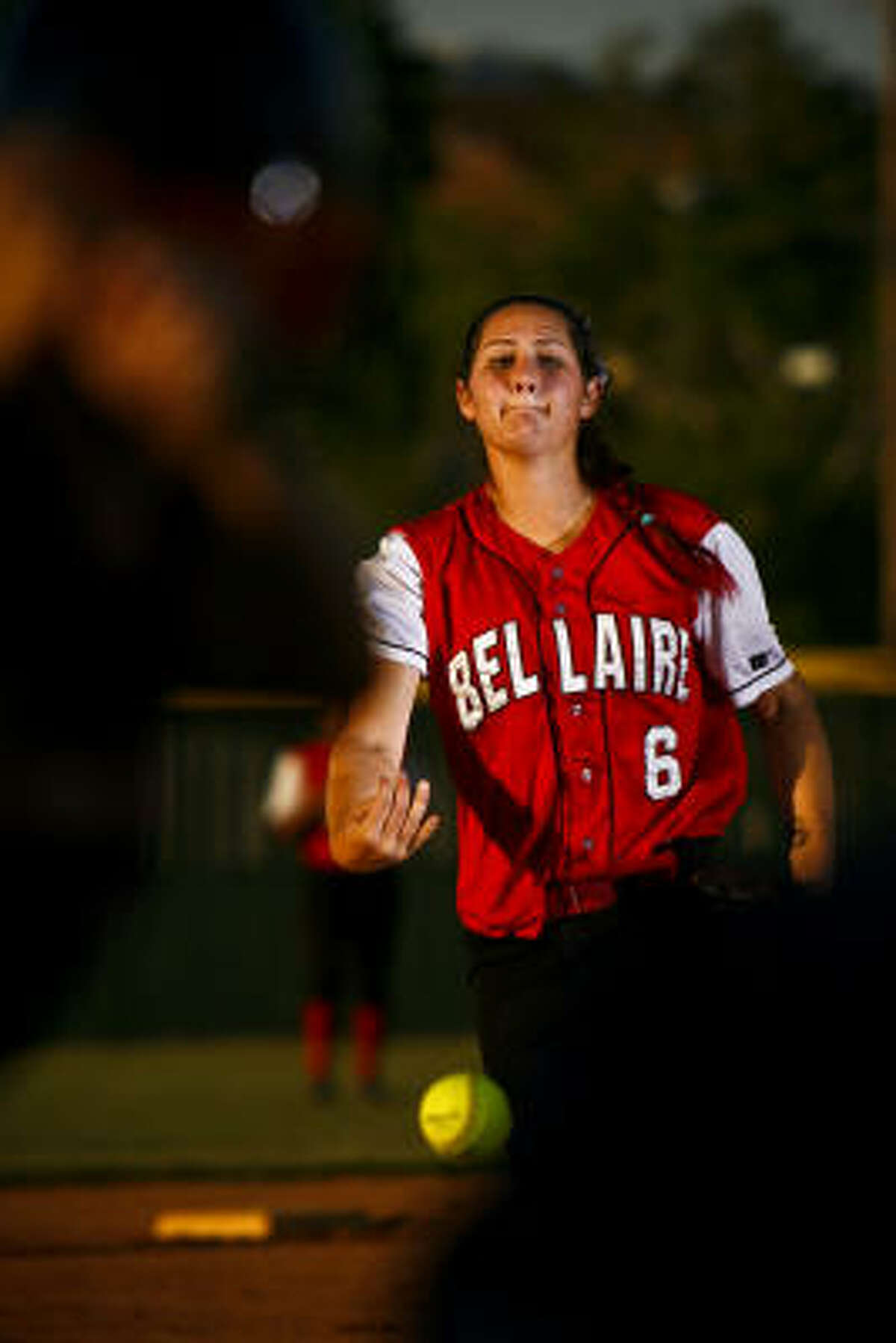 Pitcher Katherine Espinosa started for Bellaire in a 4-1 victory over Seven Lakes.