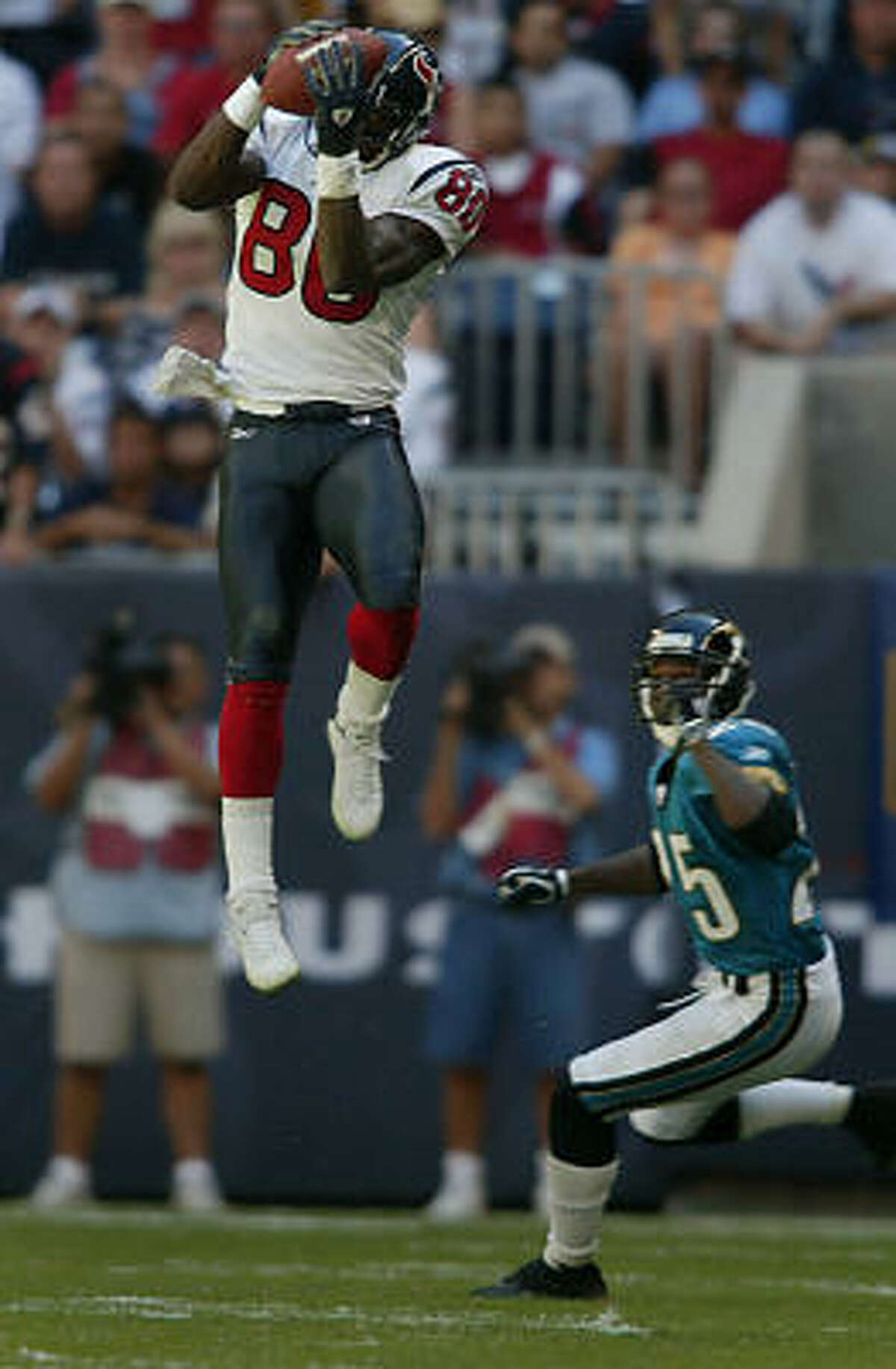 2003, WR Andre Johnson: Started 16 games; led team with 976 yds. receiving and four TDs.
