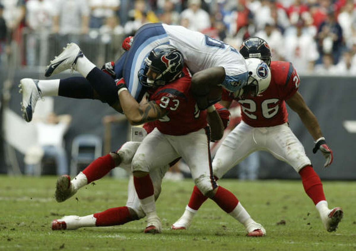 2004, DE Jason Babin: Started 16 games, posting career-high 63 tackles and 4 sacks.