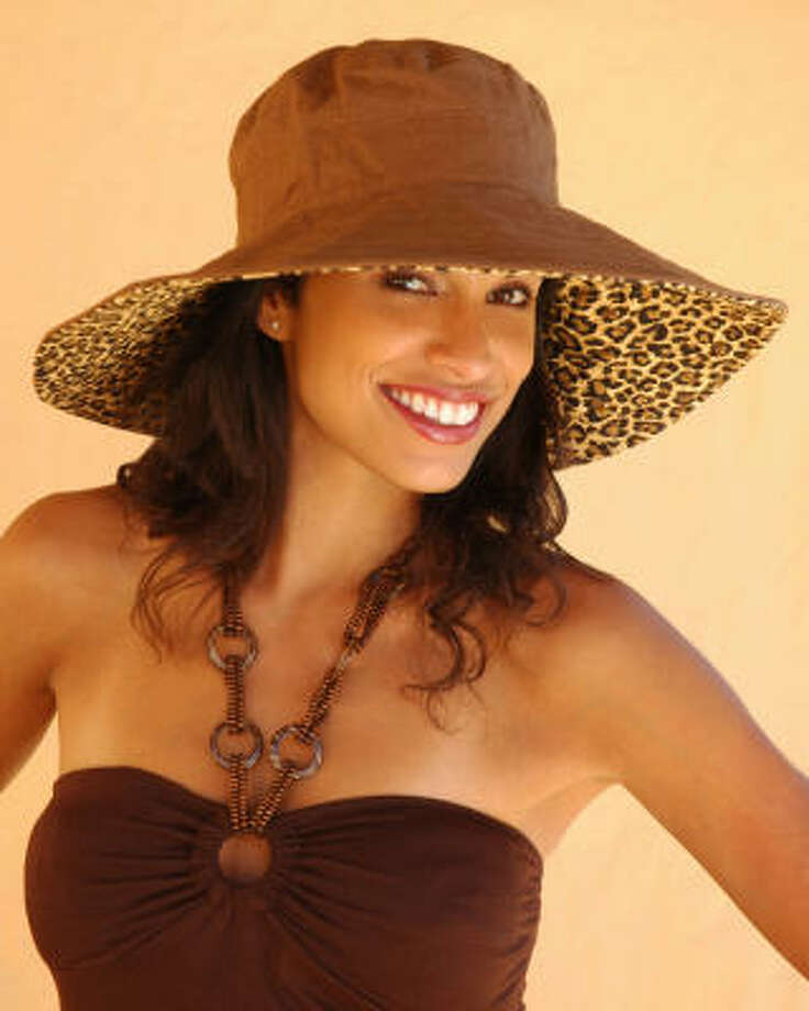 Physician Endorsed's Purr-fect sunhat, $60, is reversible. With UPF 50, it's designed to block 98 percent of the sun's damaging UV rays. Photo: Physician Endorsed