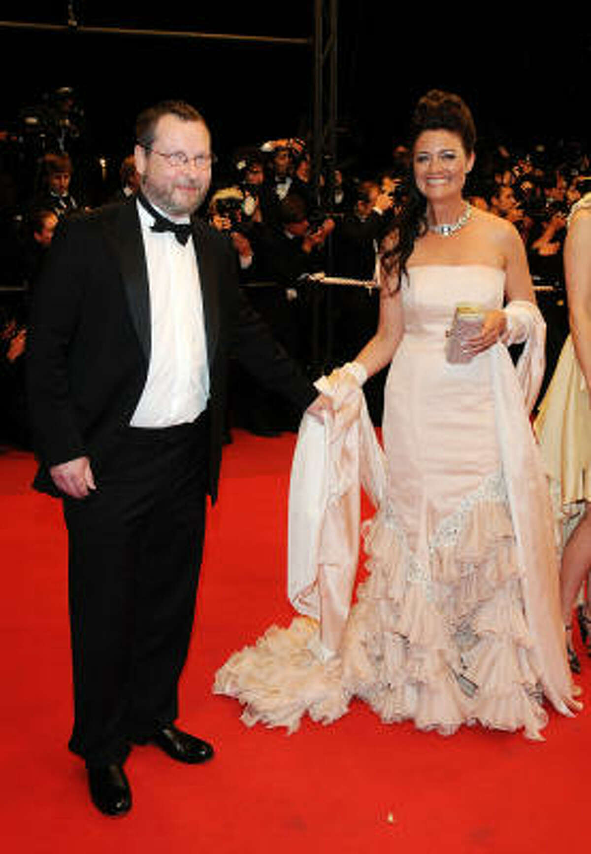 CANNES, FRANCE - MAY 18: Director Lars von Trier and guest attend the Antichrist Premiere held at the Palais Des Festivals during the 62nd International Cannes Film Festival on May 18, 2009 in Cannes, France.