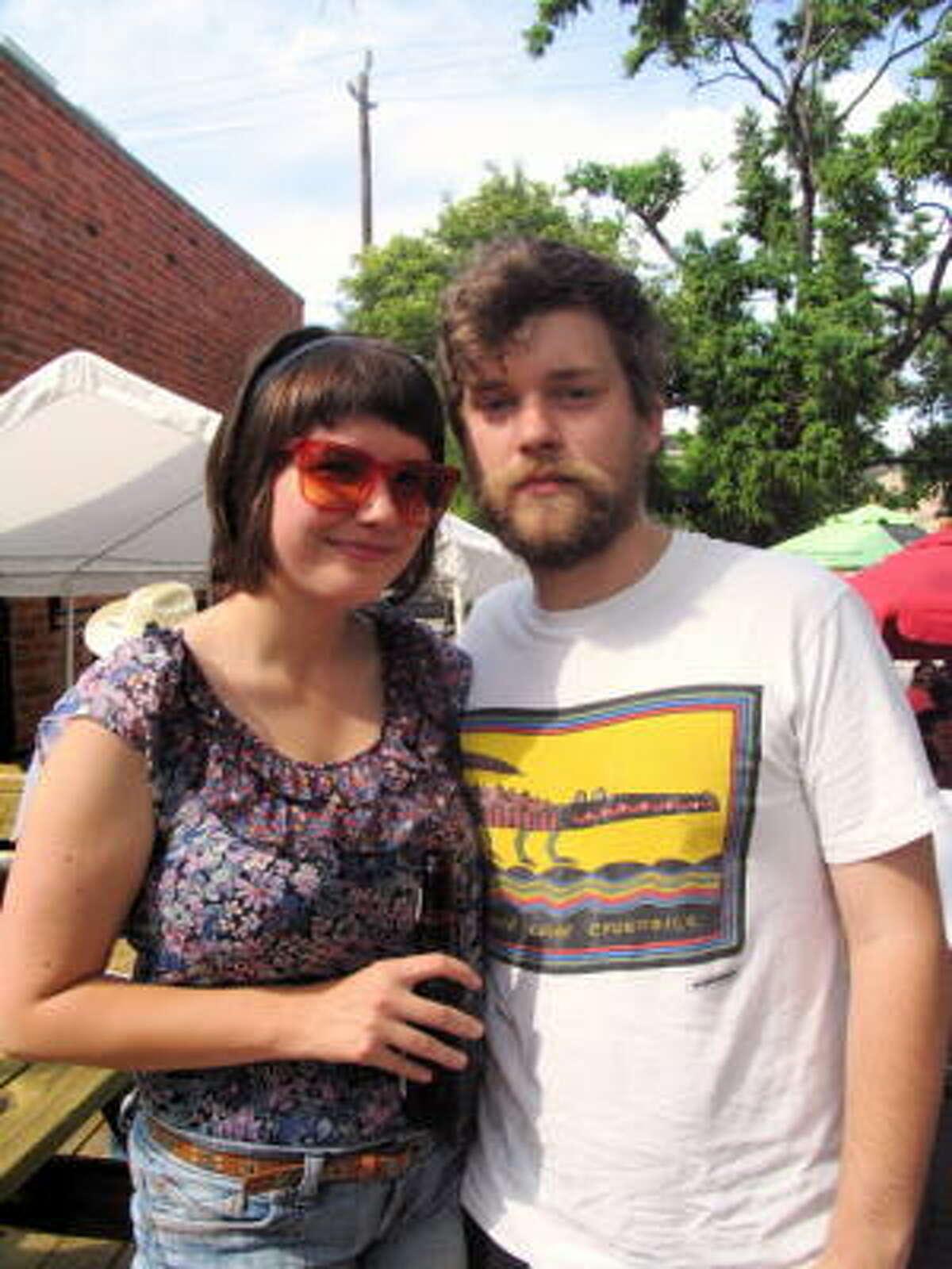 Sarah Wiggins-Goff, left, and Will Von Horn