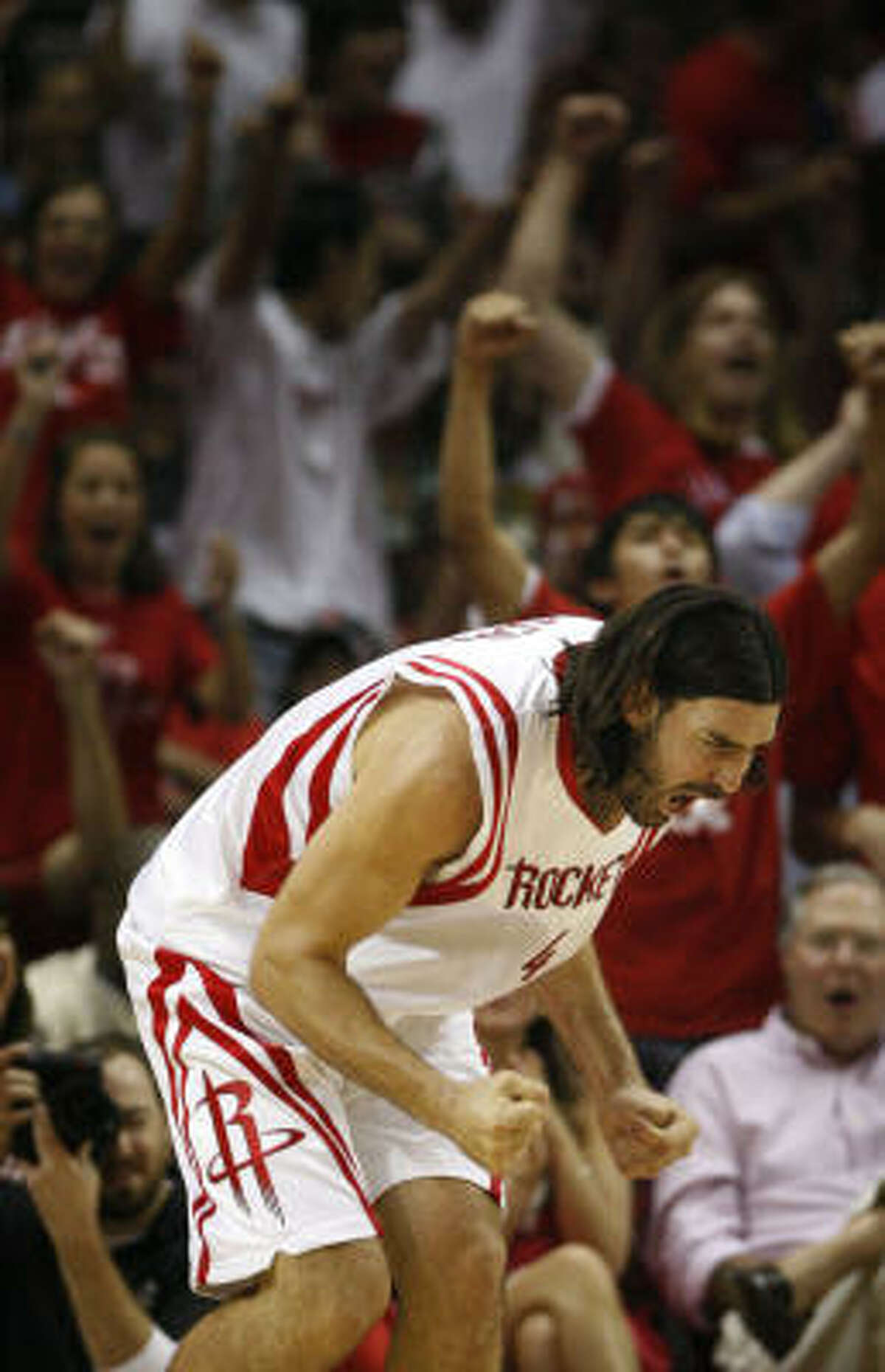 May 12, 2009 - Rockets 95, Lakers 80 . Luis Scola had 24 points and 12 rebounds to lead the Rockets to a Game 6 victory that tied the second-round series, 3-3.