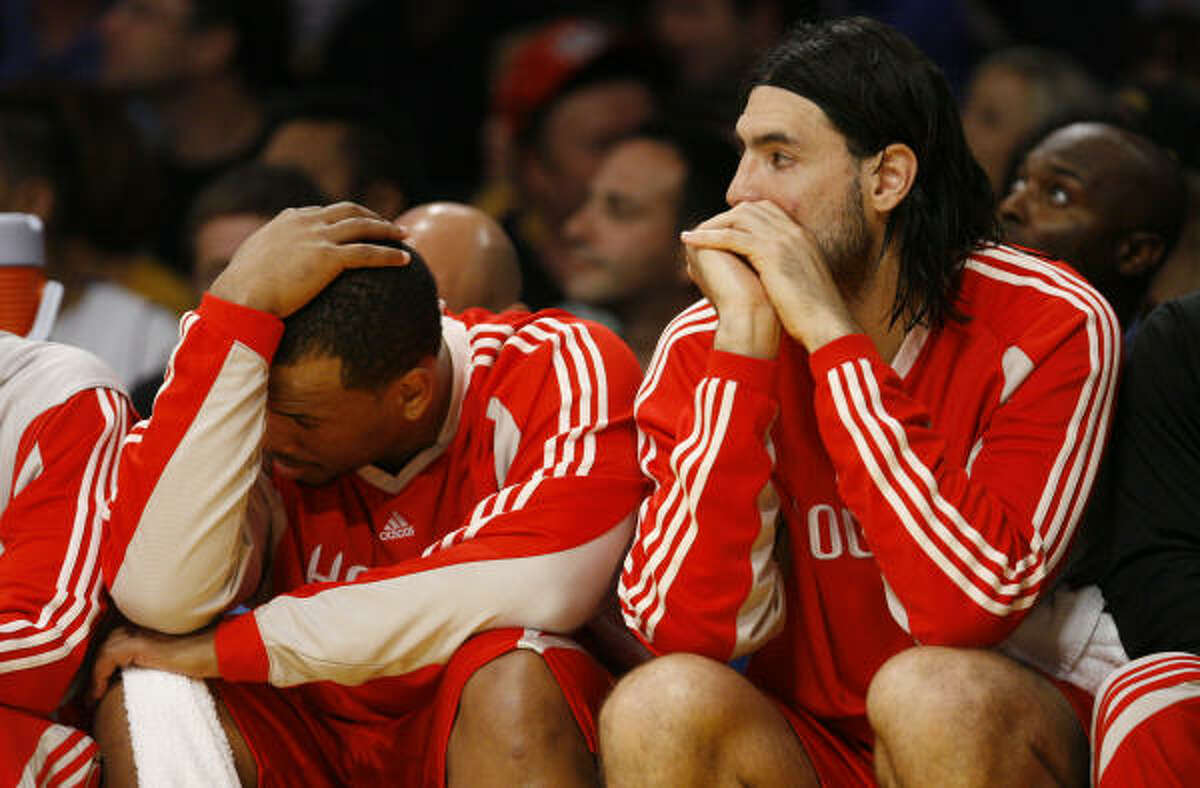 May 12, 2009 - Lakers 118, Rockets 78 . The Rockets matched their worst margin of defeat in a playoff game en route to falling behind in the series, 3-2.
