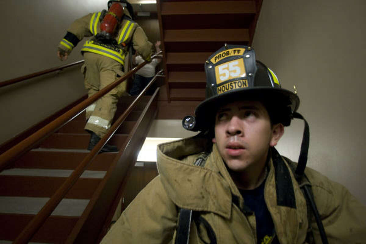 More than 250 contestants ran up 39 flights of stairs in the first year of the event that raised about $125,000. The winning stair climber finished the race in just over four minutes.