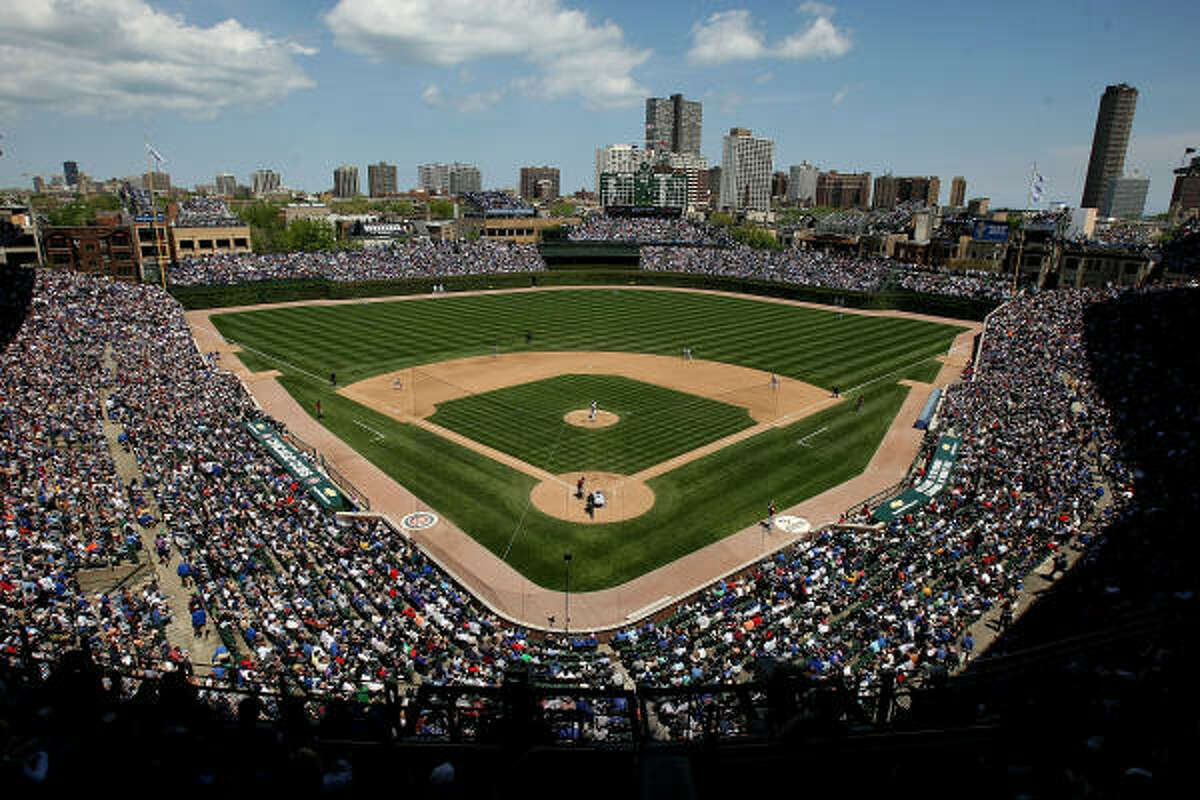 After Friday's rainout, it was a beautiful day at Wrigley Field.