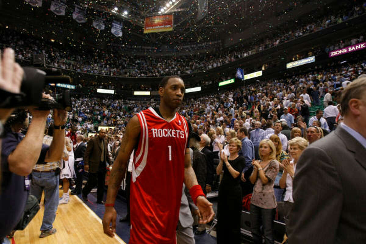 Season: 2007-08 Playoff result: The Rockets fell to the Utah Jazz in six games in the first round.