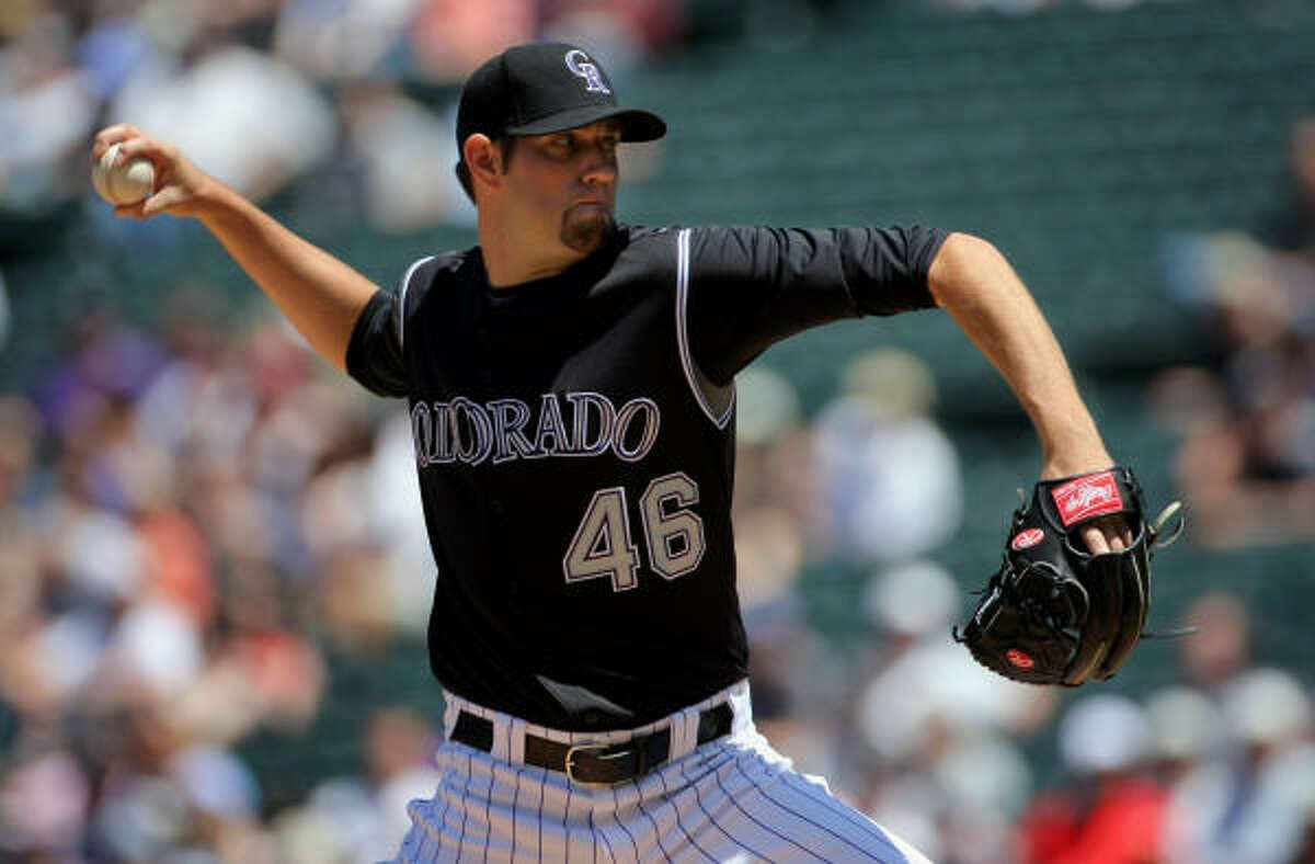 Colorado Rockies starting pitcher Jason Hammel started in the series finale.