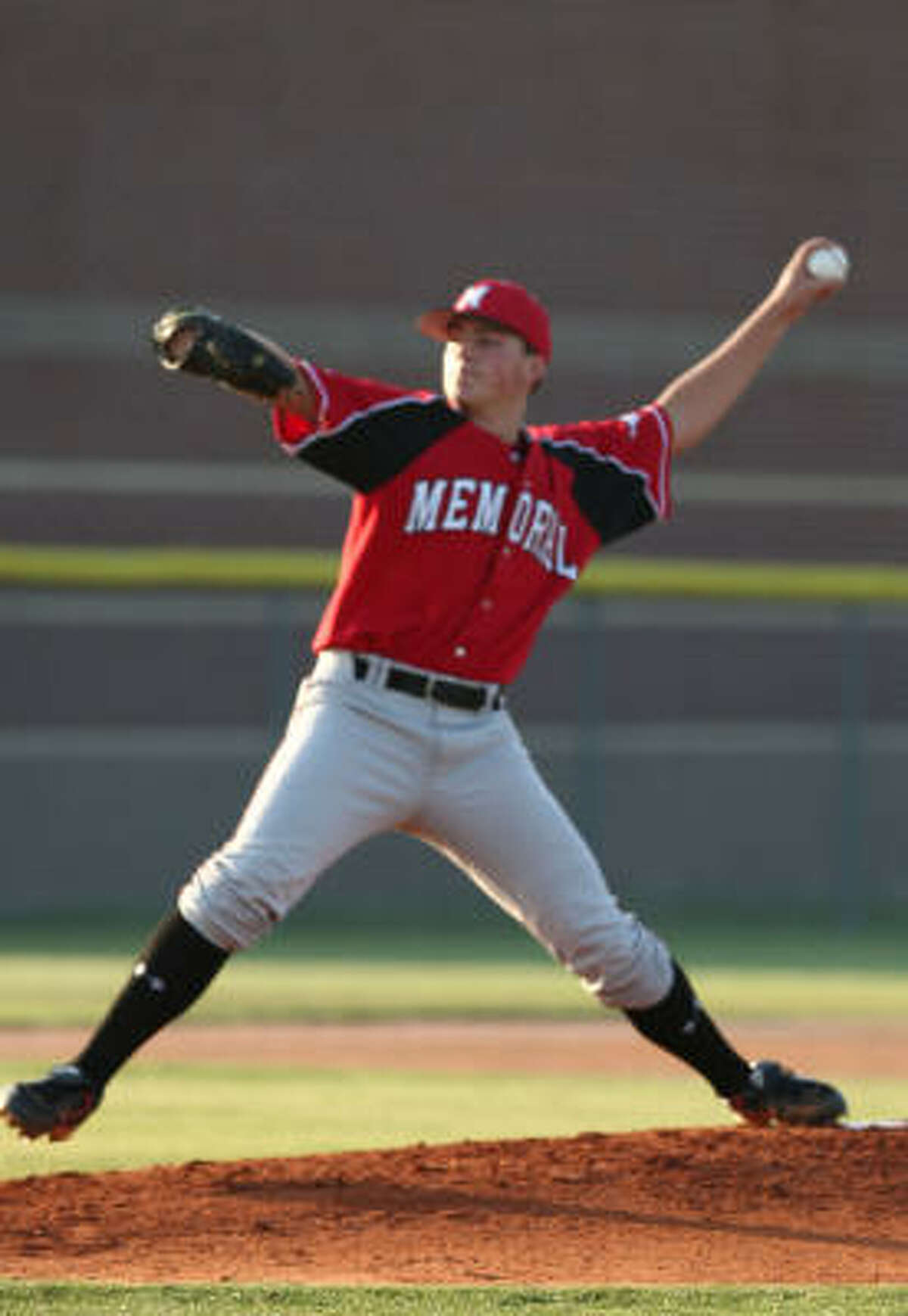 Memorial pitcher Steven Murray started and got the win against Cinco Ranch. Murray threw six strong innings for Memorial, giving up four hits while striking out nine.