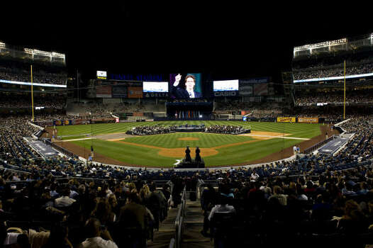 The service was the first non-baseball event at the new Yankee Stadium. Photo: Ron Wyatt, Provided By Lakewood Church