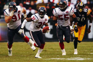 Dec. 8, 2002:  The Texans beat the Steelers 24-6 at Heinz Field despite being held to 47 total yards, the lowest offensive output by a winning team in NFL history. Defensive back Aaron Glenn's two interception returns and defensive back Kenny Wright's fumble return account for all three Houston touchdowns.