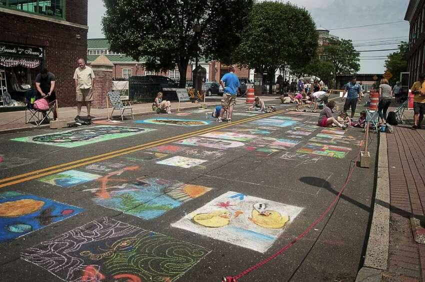 Norwalk's SoNo Arts Celebration on August 6 drew a crowd that filled the streets of South Norwalk.
