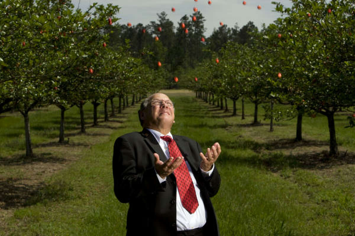 Portrait of Mayhaw jelly award winner, Liberty County 75th Judicial District Judge C.T.