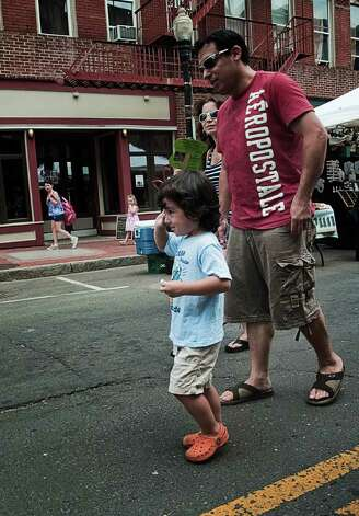 Norwalk's SoNo Arts Celebration on August 6 drew a crowd that filled the streets of South Norwalk. Photo: Mike Macklem / Hearst Connecticut Media Group