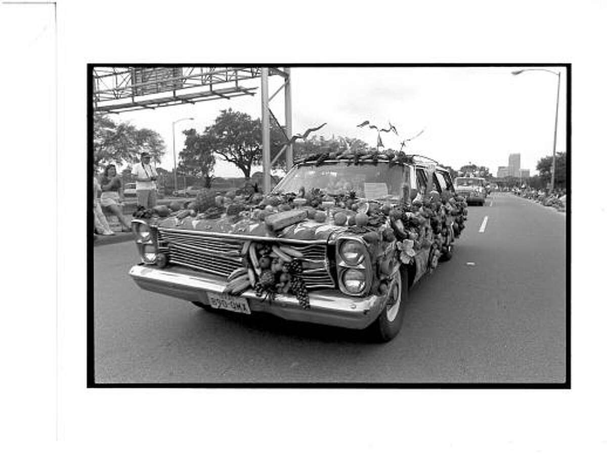 The Fruitmobile, as seen in 1988 -- the first year that the Orange Show organized the parade.