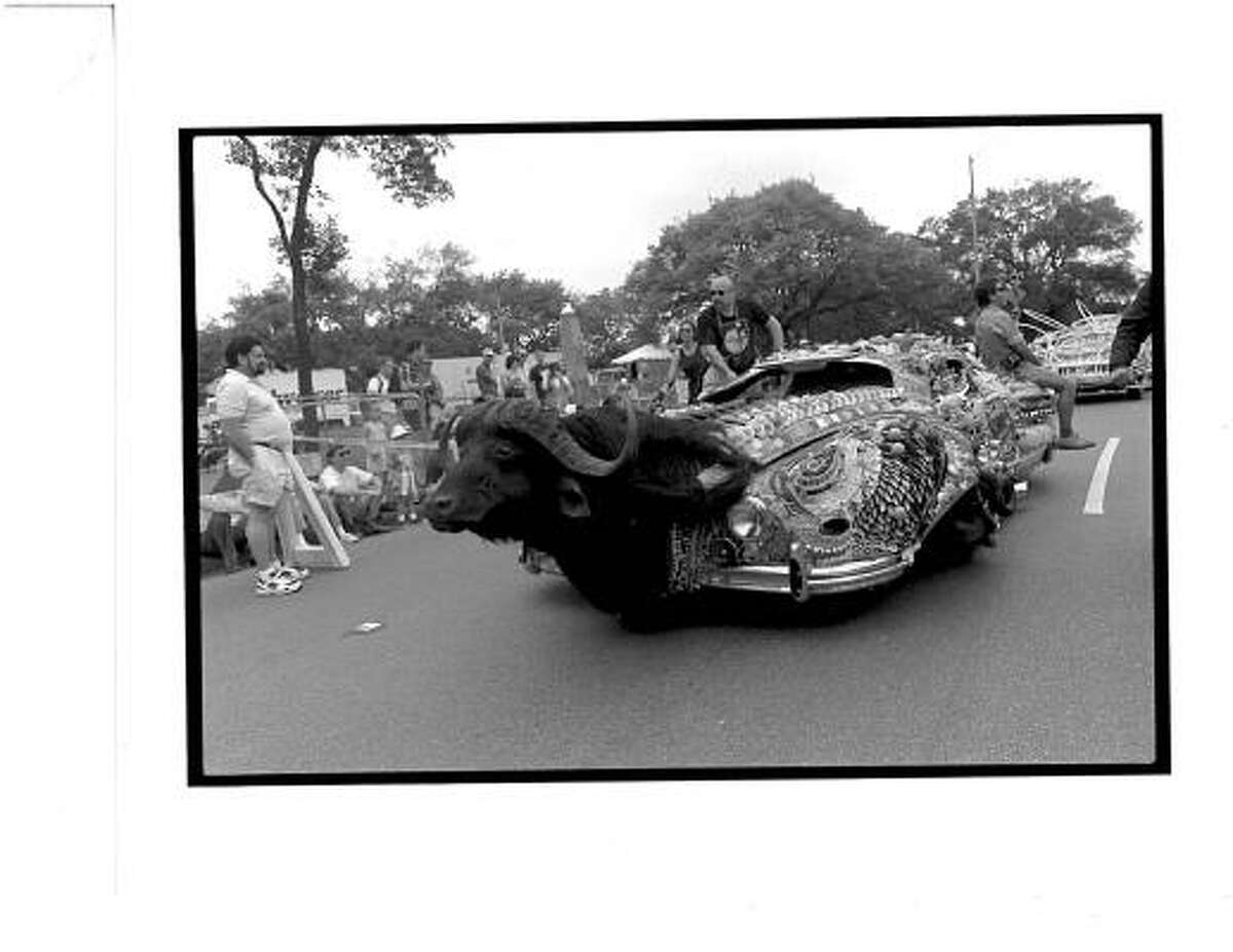 An entry in the first Art Car Parade in 1988.