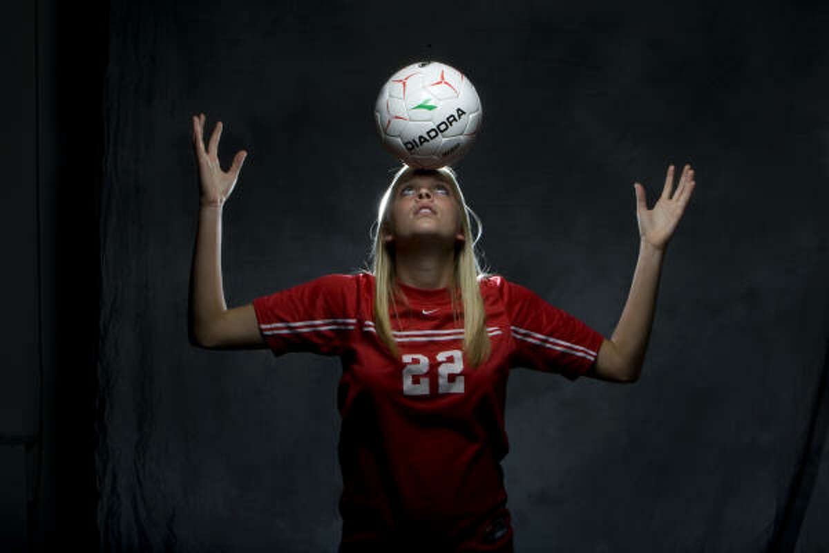 Girls soccer player of the year Olivia Kintigh, The Woodlands: The Woodlands had a dream season, finishing 27-3-2 and making its first appearance at the state tournament, losing in the state championship match, and the senior forward had 22 goals and 10 assists along the way. She'll attend Oklahoma.
