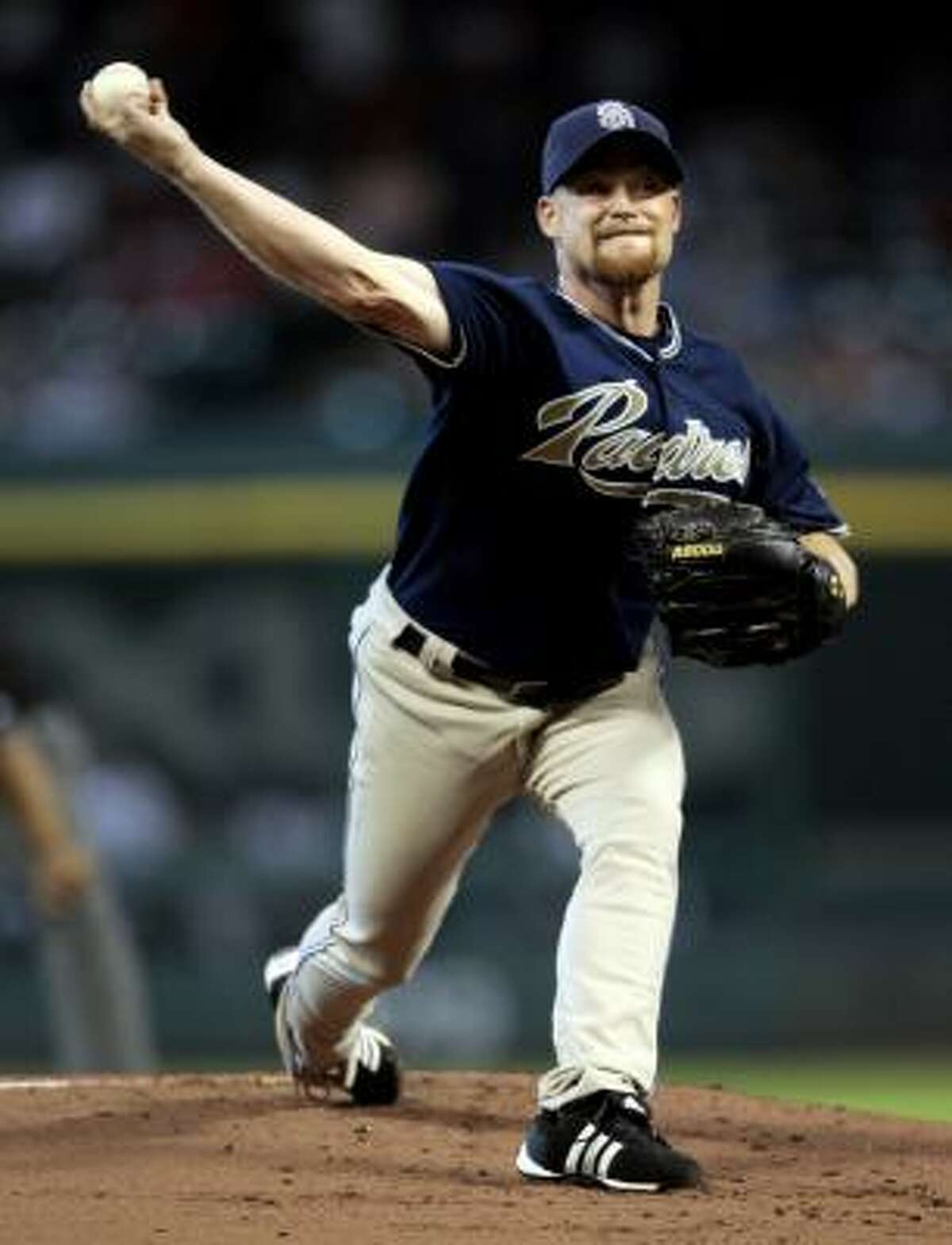 San Diego Padres pitcher Chad Gaudin started in the series opener against the Astros.
