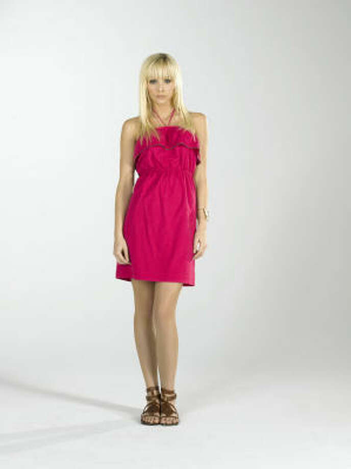 Pink zipper ruffle halter dress, $198, Juicy Couture, Galleria Photo: Juicy Couture