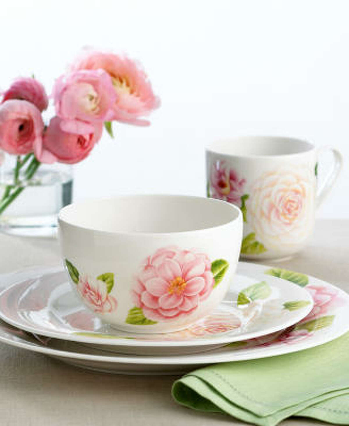 Serve Mom breakfast on pretty Martha Stewart Collection dishes. Plates, bowls, mugs and platters in this Tea Blossom pattern are $10-$32 at Macy's.