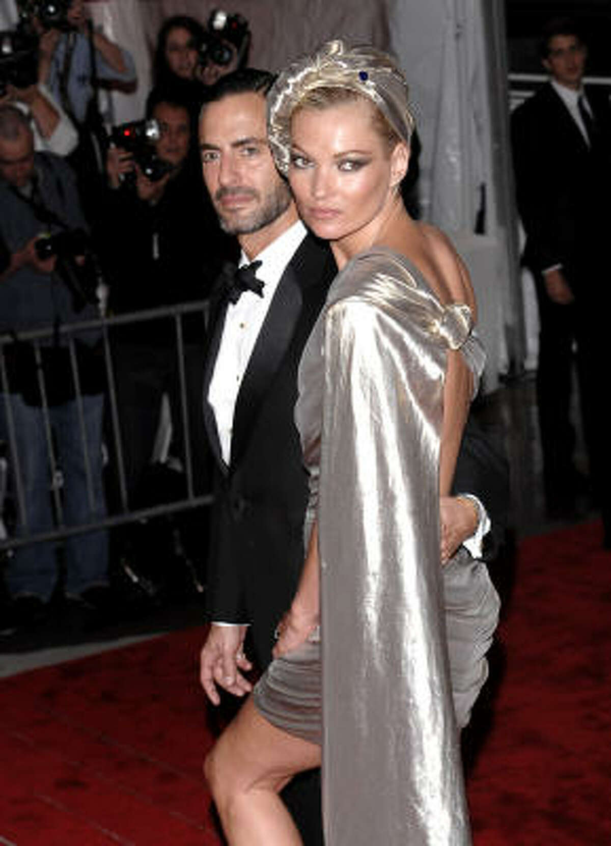 Fashion designer Marc Jacobs and Kate Moss