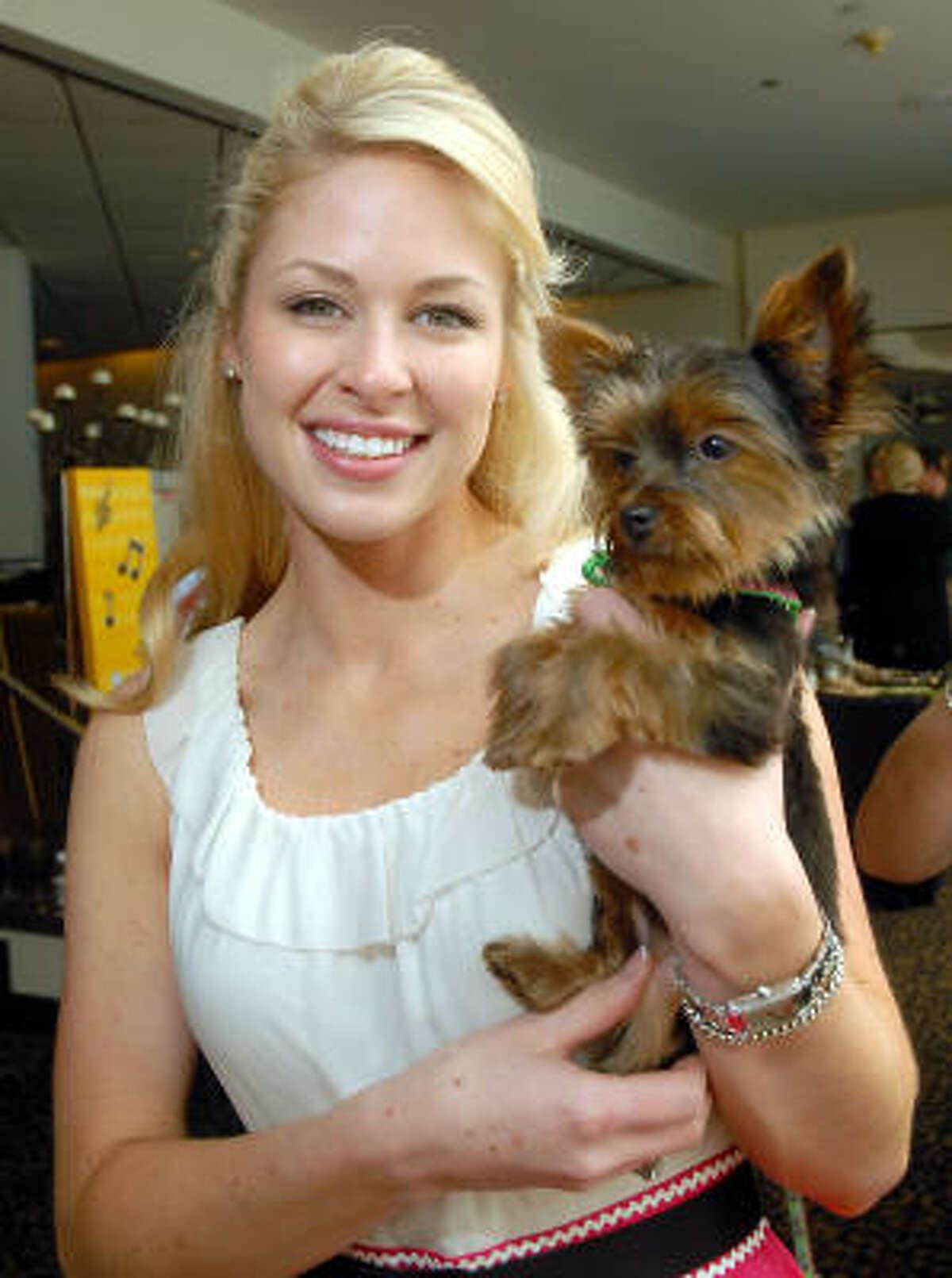 Allie Morgan with Bella.