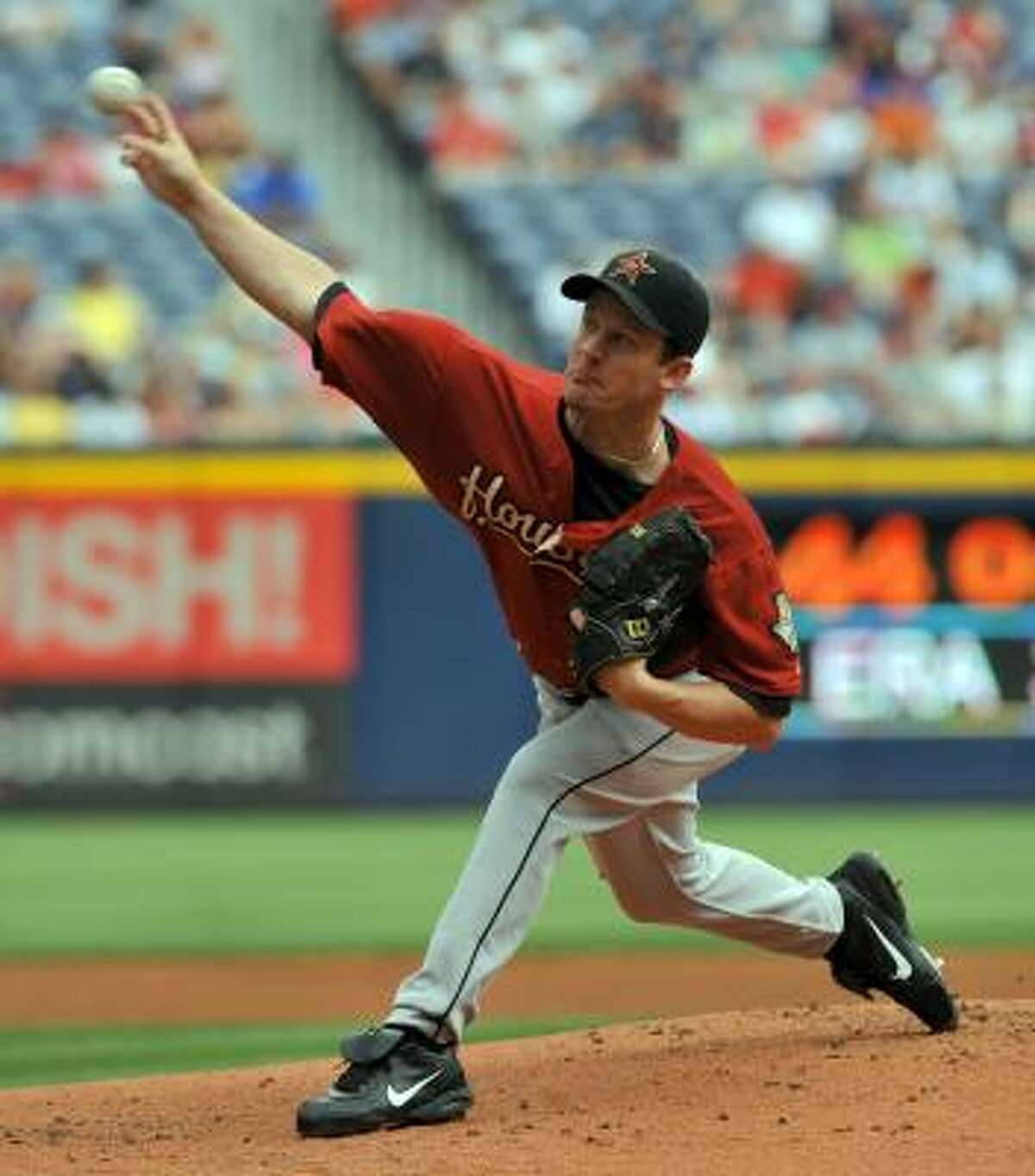 Roy Oswalt started against the Braves. Due to the rain delay during the second inning, Oswalt pitched one inning.