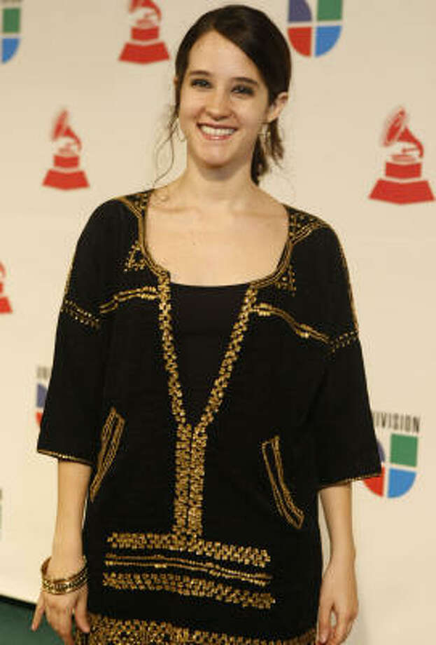Ximena was nominated for three Latin Grammys. She's shown at the awards last year in Houston. Photo: Julio Cortez, Chronicle