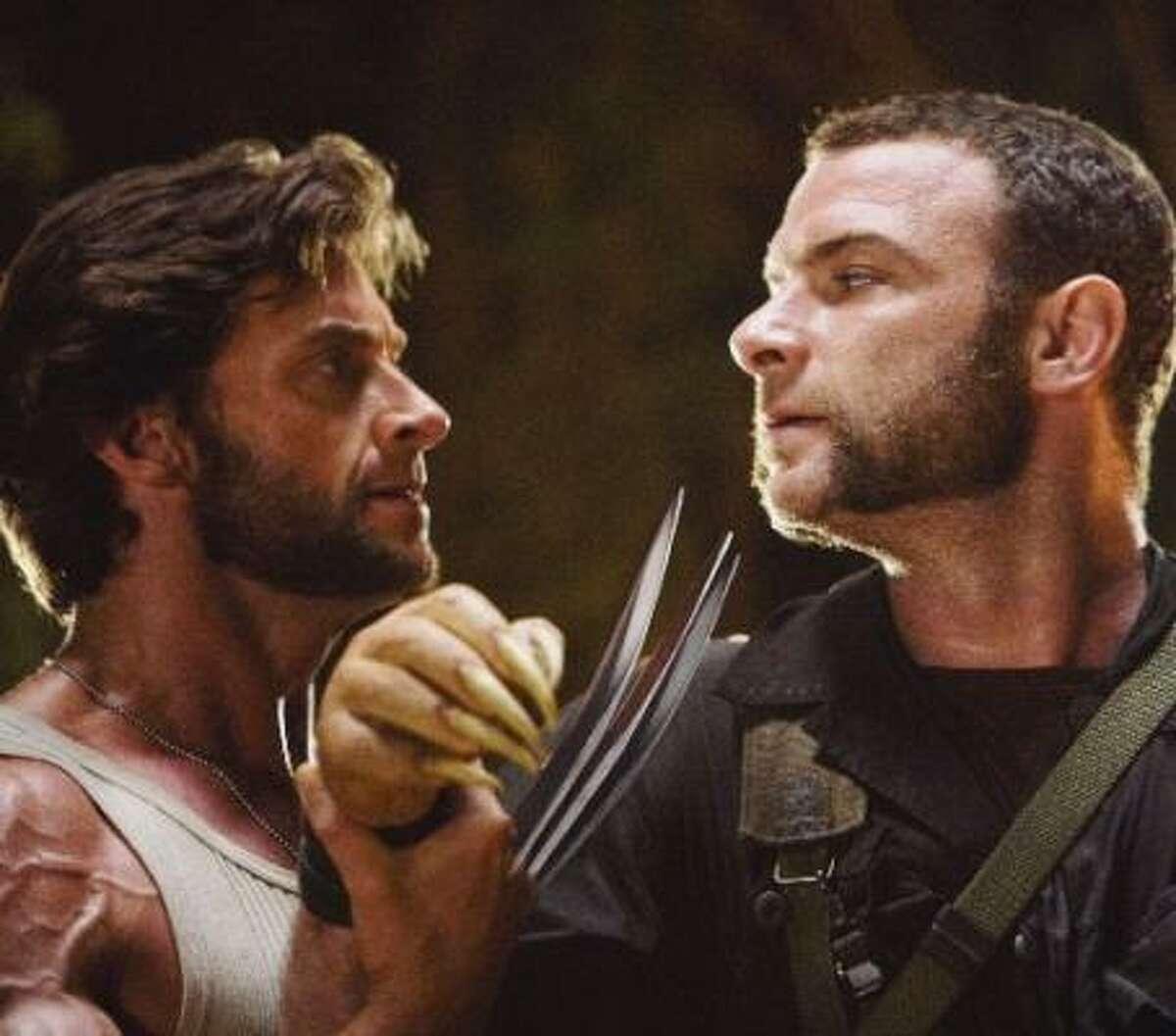 Wolverine (Jackman) and Sabertooth (Liev Schreiber) are all the rage in the X-Men Origins.