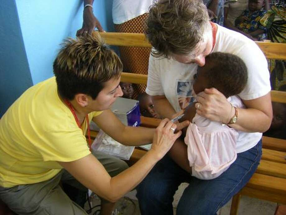 These two hands nursed the sick and provided over 415 children with necessary vaccines in Africa. Photo: Submitted By Jan Ervin
