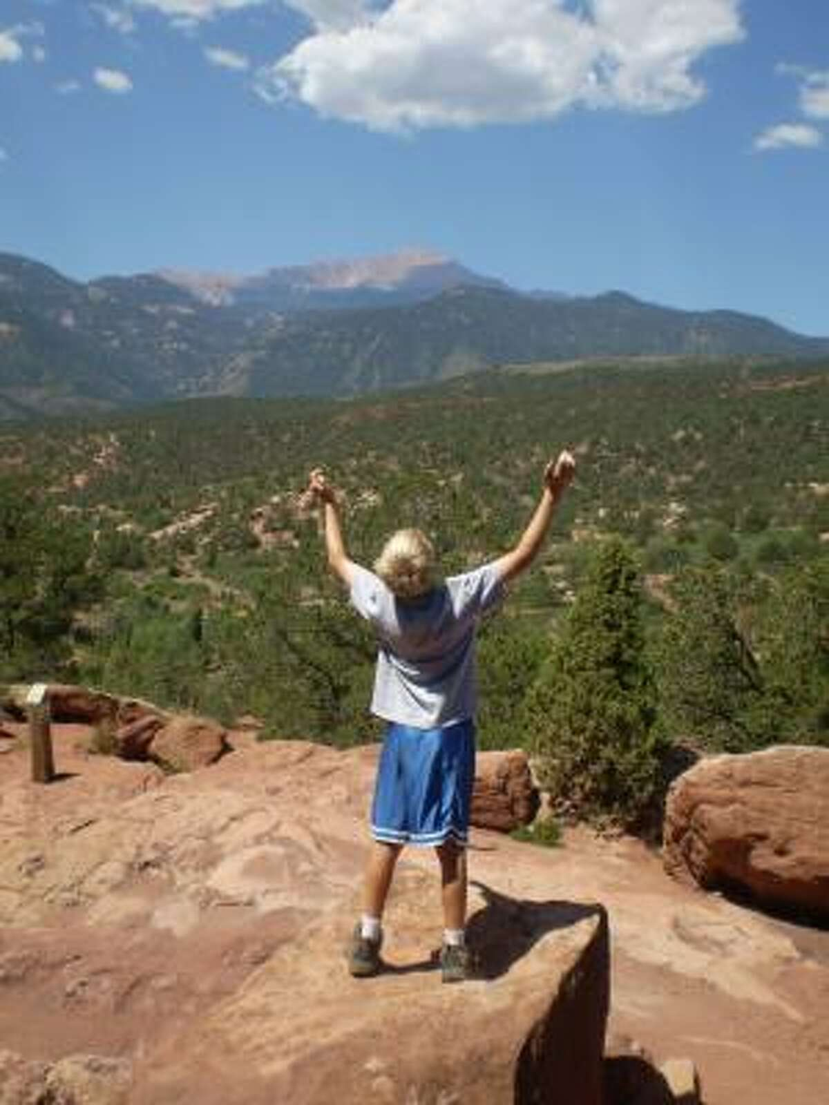 11-year-old hands, giving God ALL the glory at Garden of the Gods in Colorado. For more information on the KSBJ