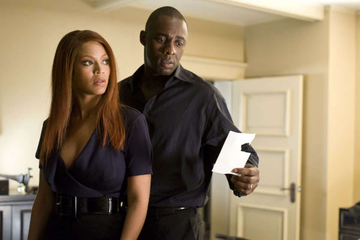 Beyonce's lates film is Obsessed where she stars wtih Idris Elba.