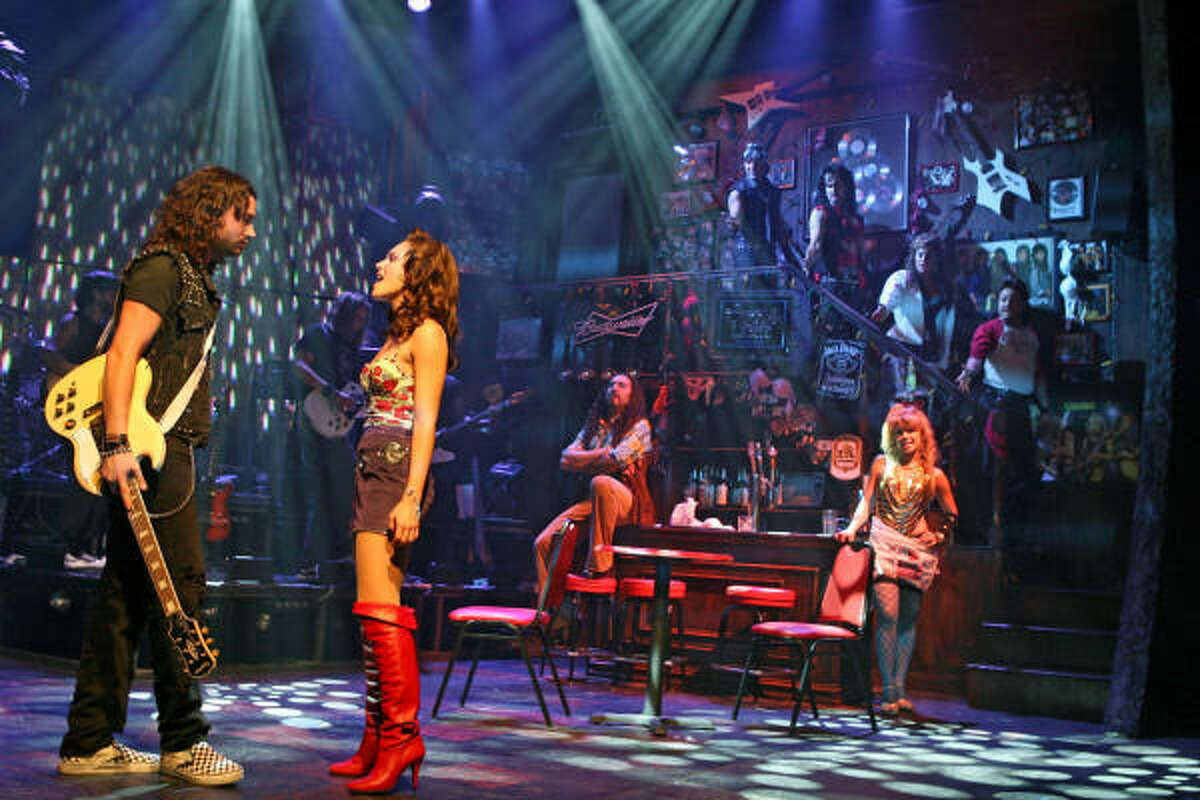 In this image released by The Karpel Group, Constantine Maroulis, left, and Kelli Barrett are shown in a scene from