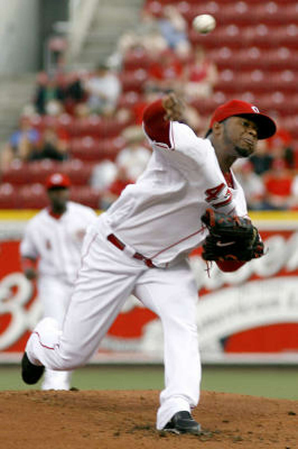 Reds starter Johnny Cueto was handed a no-decision after limiting the Astros to one run on seven hits in seven innings.