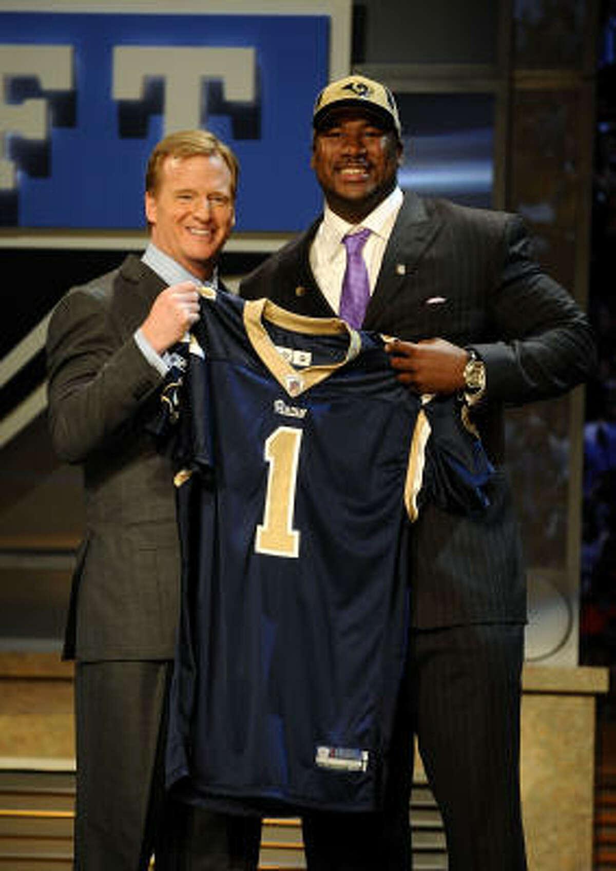 No. 2, St. Louis Rams Jason Smith, OT, Baylor