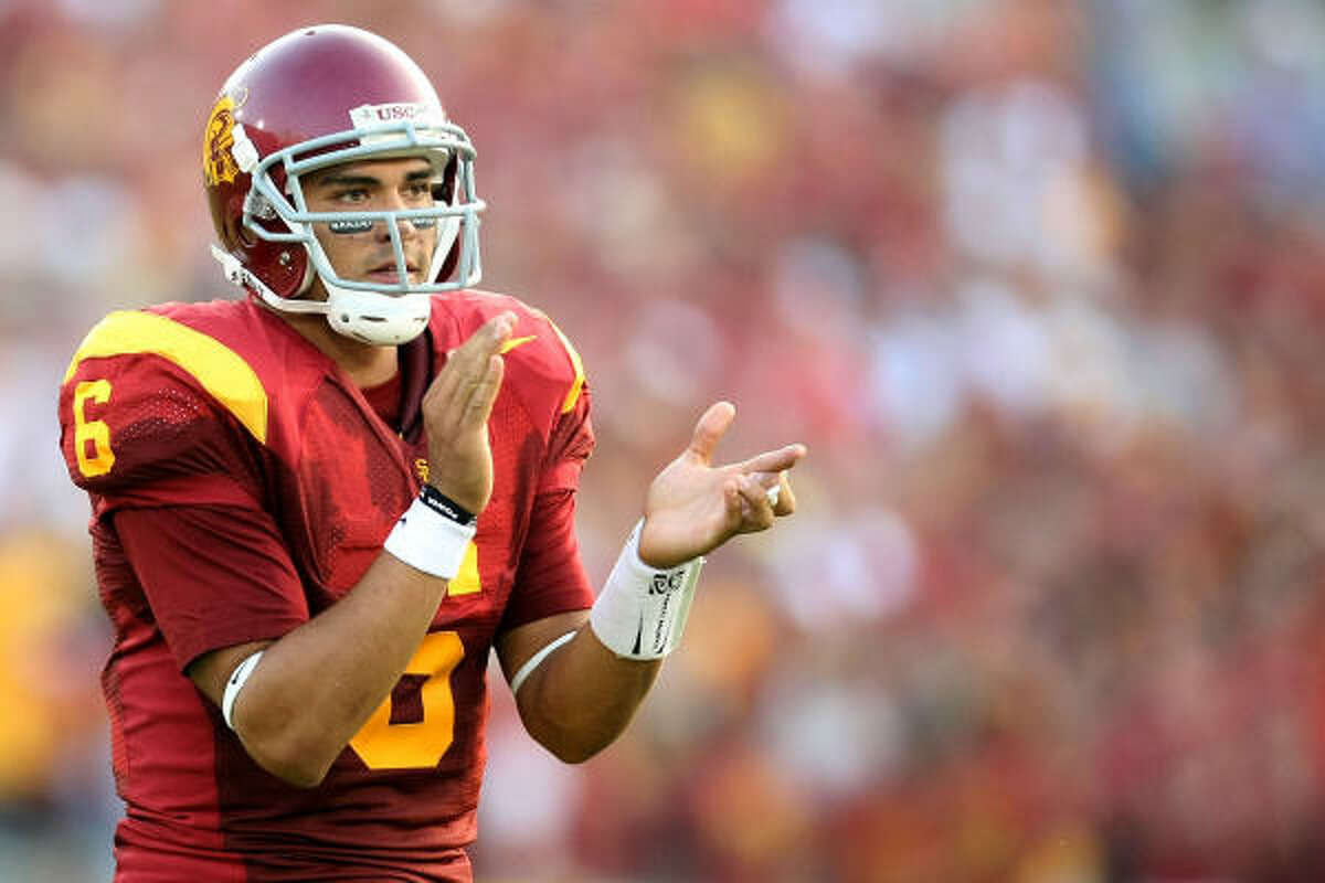 No. 5, New York Jets (from Browns) Mark Sanchez, QB, USC A junior who has been shooting up the charts because his workouts and interviews have been terrific.