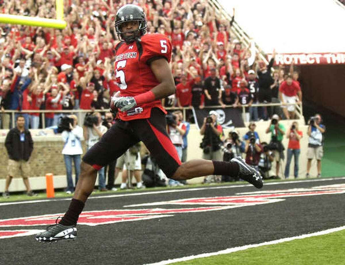 No. 10, San Francisco 49ers Michael Crabtree, WR, Texas Tech