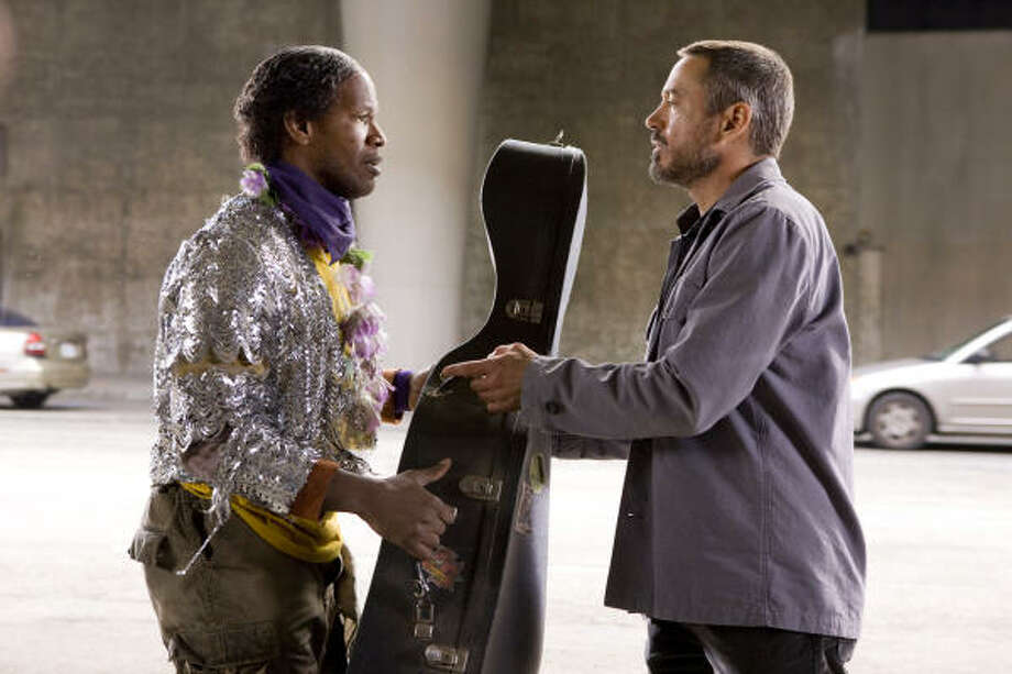 Nathaniel Ayers (Jamie Foxx), was a homeless man and former musician who studied at The Juilliard School in New York City and played the cello on the streets of Los Angeles. Los Angeles Times writer Steve Lopez was played by Robert Downey Jr. Learning to play a stringed instrument offers challenges since even professionals spend years perfecting the minor details that can make all the difference. Photo: FRANCOIS DUHAMEL, VIA BLOOMBERG NEWS
