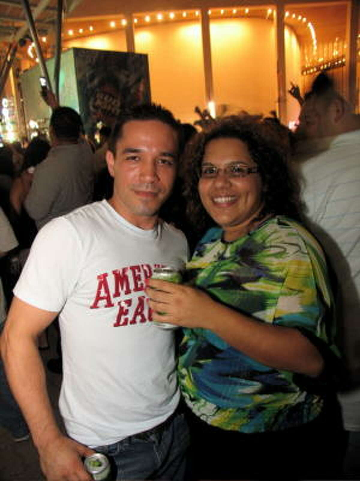 Miguel Quezada, left, and Angelica Rojo