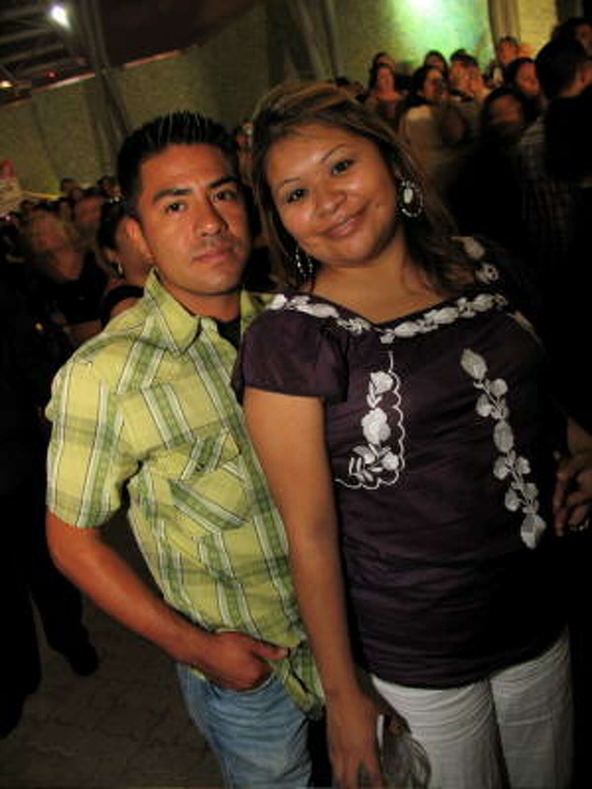 Oscar Hernandez, left, and JoAnn Vasquez