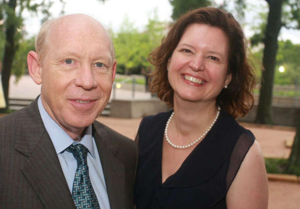 Mayor Bill White and Hermann Park Conservancy director Doreen Stroller