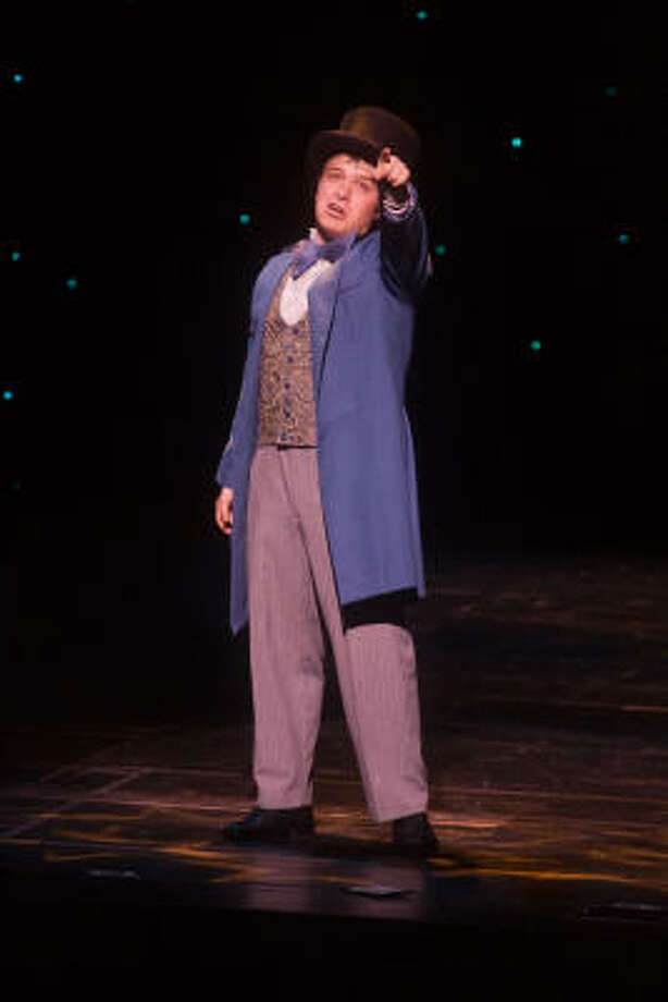 """Al Fallick of Stratford High School revisits his role as P.T. Barnum from the Stratford Playhouse production of """"Barnum."""" Photo: R. Clayton McKee, For The Chronicle"""