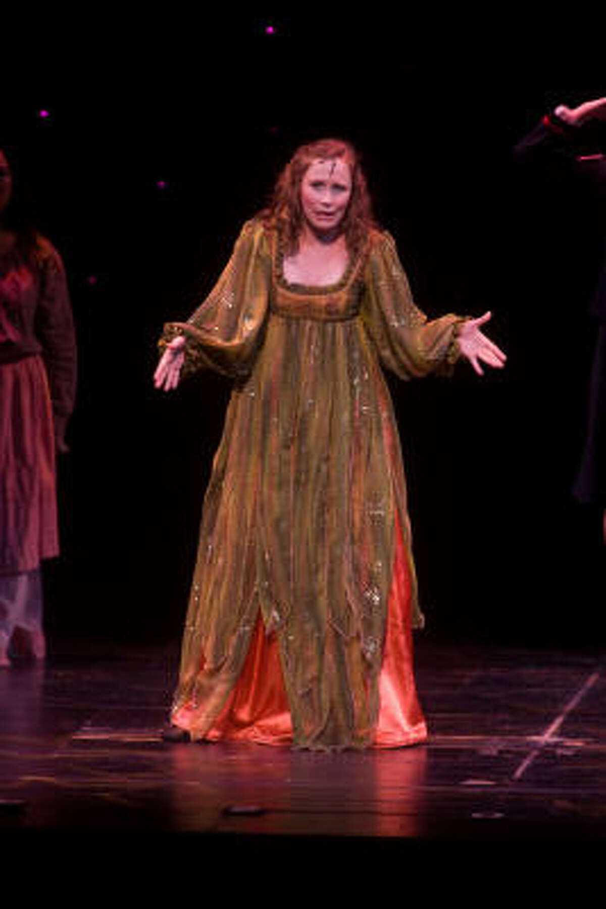 Best Leading Actress Nominee Julia Rucker of Seven Lakes High School reprises her role as Princess Winifred from